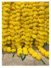 20 PC Lot Yellow Color Artificial Marigold Flower Garland Home Decor Weeding