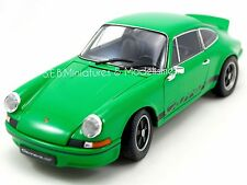 Porsche 911 CARRERA RS 2.7 1973 VERTE 1/18 WELLY FE17DC