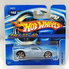 Ford GT-40 Blue 2005 Chrome PR5 Clear Windows Grey Interior Hot Wheels 462