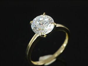 333 Gold  Ring Solitär mit Zirkonia Stein  Größe 52  Ringbreite oben 8 mm