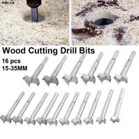 16Pcs/Set 15-35mm Forstner Auger Drill Bits Kit Woodworking Hole Saw Hole Cutter