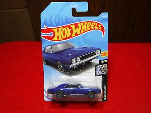 """Hot Wheels '69 Dodge Charger 500 """"Rod Squad"""" 80/250 Track Stars NIP Blue"""