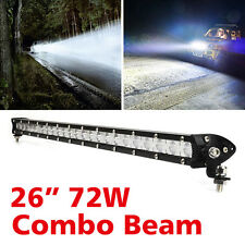 "26"" 72W LED WorkLight Bar Combo Flood Spot Beam Offroad Truck Driving Light 12V"