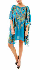 Free People Women's Kaleidoscope Embelished Mini Dress Green XS RRP £200 BCF69