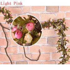 Künstliche Seide Rose Blume Ranke hängende Girlande Hochzeit Party Dekoration