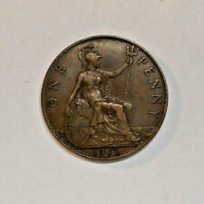1917 Georgivs V Dei Gra Britt Omn Rex Fid Def Ind Imp One Penny Coin