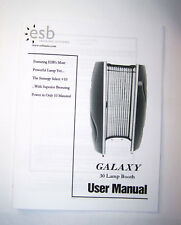 ESB Galaxy Tanning Booth User Manual Stand Up Tanning 30 Lamp