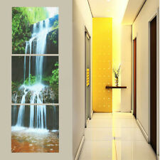 3D Abstract Unframed Canvas Print Home HD Waterfall Print Art Picture Wall Decor