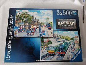 ravensburger 2x 500 piece jigsaw puzzles railway heritage