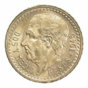 1945 2 1/2 Pesos - Miguel Hidalgo y Costilla - Mexico Gold Coin *411