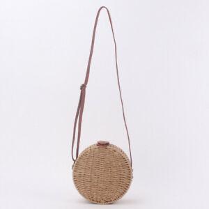Hand-Woven Women Summer Rattan Bag Straw Purse Handmade Wicker Crossbody Beach