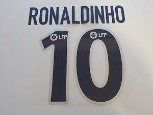 Flocage RONALDINHO n°10 Bleu Barcelone 2003-04 patch Barcelona shirt maillot