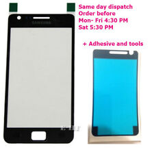 Samsung Galaxy S2 i9100 Black Front outer Glass Screen SII + Adhesive