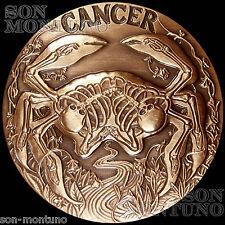 CANCER - #6 SkullCoins 2015 ZODIAC Memento Mori Series 1oz .999 COPPER Art Round