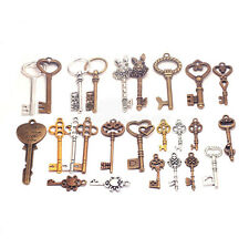 25Pcs Punk Steampunk Mixed Key Pendant Charm Necklace Jewelry Making Accessories
