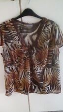 Lovely PER UNA top animal print size 18