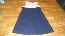 BOUTIQUE OLIVE JUICE 7 NAVY IVORY DRESS