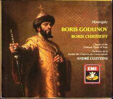 MUSSORGSKY: BORIS GODUNOV Boris Christoff Anna Alexieva ANDRE CLUYTENS EMI 3CD