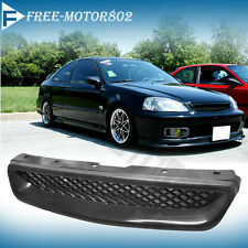 Fits 99-00 Honda Civic EK CX DX EX HX LX JDM Type R Front Hood Grill Grille Abs