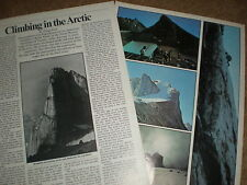 Article climbing expedition Baffin Island arctic 1971