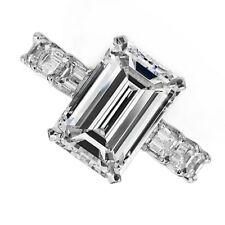 18kt K/L VS 2.85ct Emerald Cut Diamond Engagement Ring