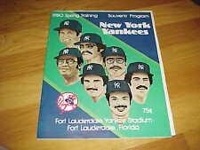1980 Baltimore Orioles v New York Yankees Spring Training Baseball Program