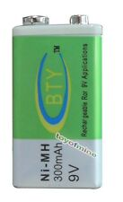 1 x Ni-MH 300mAh 9V Rechargeable PP3 Battery NEW