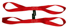 "18"" Red Tie Down Extension Soft Touch Loops Straps 4500lbs Motorcycle ATV"