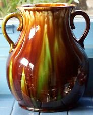 Australian Pottery H Mchugh Ceramic Vase with handles 22cm tall