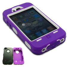 Heavy Duty Builders Workman Purple Armour Case for iPhone 4 & 4S - STURDY CASE