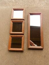 4 Wooden Home Interior Accent Mirrors Hang in Either Direction