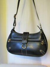 sac lancel cuir noir et métal doré