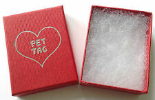 Pet Gift Box in Red, Size Aprrox Size 55mm x 75mm x 25mm