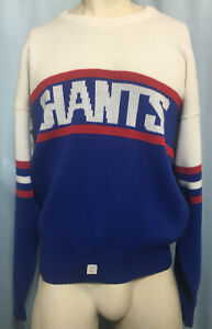 XL NOS NWT Vintage 1980s NEW YORK GIANT Wool Blend NFL Sweater CLIFF ENGLE USA