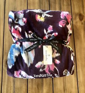 Vera Bradley COZY Throw Blanket INDIANA ROSE PINK BLOSSOMS FLORAL NWT New SEALED