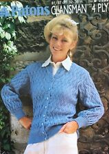 Patons 4ply  Knitting Pattern For Ladies Cardigan Size 32/38""