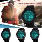 Waterproof Mens Boy LCD Digital Stopwatch Date Rubber Military Sport Wrist Watch