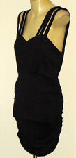 BETTINA LIANO BlkStretchStrappyKeyholeParty Size8 NWoT