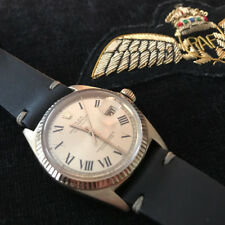 Very Collectible 14K Solid Gold Rolex Datejust 1601 36mm with Rare Buckley Dial