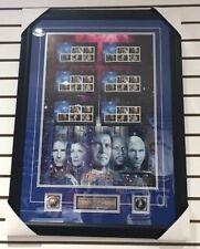 Star Trek Starfleet Canada Post Uncut Stamps Sheet - 22x31 Framed