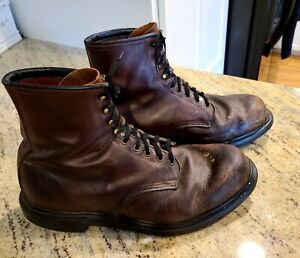 Vintage Red Wing Boots #1212  Size 14D Motorcycle Grunge Goth Distressed Paint