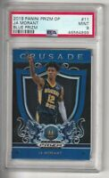 2019-20 Panini Prizm Draft Picks JA Morant RC Blue Crusade PSA 9 MINT SP #11
