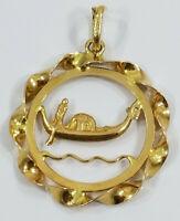 Vintage 18K Gold ~ITALIAN GONDOLA~ Charm Pendant