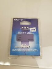 New Factory Sealed Sony 64MB Memory Stick Card MSA-64A