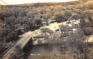 Noel MO Tydol Gas Station Aerial View Shadow Lake Cafe RPPC Postcard