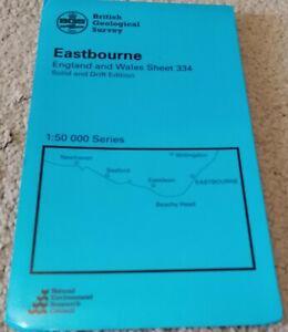 Ordnance Survey Geological Map EASTBOURNE 1979 Sheet 334 Solid & Drift edition