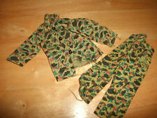 """VINTAGE BUNDLE """"ACTION MAN"""" ARMY CAMOUFLAGE JACKET & PAIR OF CAMO TROUSERS"""