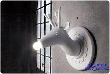 MARNIN LED LAMPADA DA PARETE A FORMA DI CERVO IN CERAMICA BIANCA CM 36
