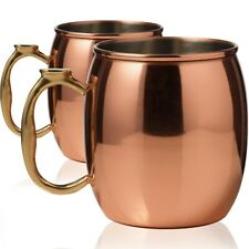 Moscow Mule Copper Mugs Set of 2 Cups 16 oz Each Solid Copper Drinking Cocktail