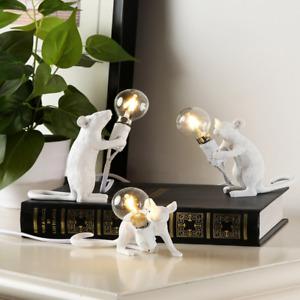 Bedroom Rat Mouse Shaped Night Light Bedside Table Lamp College Dorm Decor